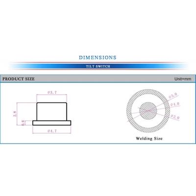 Ultra-small angle tilt sensor SMT